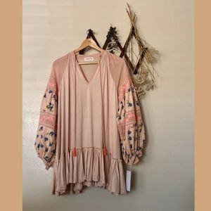 ❀NWT Goodnight Macaroon Pink Floral Puff B…